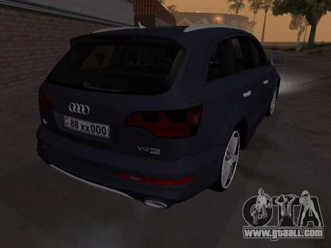 Audi Q7 Armenian for GTA San Andreas back view