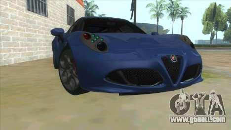 Alfa Romeo 4C for GTA San Andreas back view