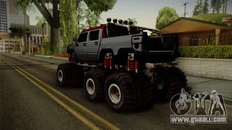Hummer H2 6x6 Monster for GTA San Andreas left view