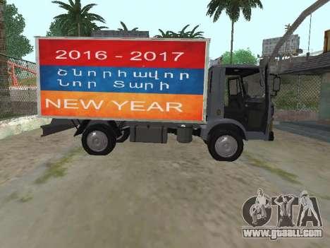 Zastava 640 Armenian for GTA San Andreas inner view