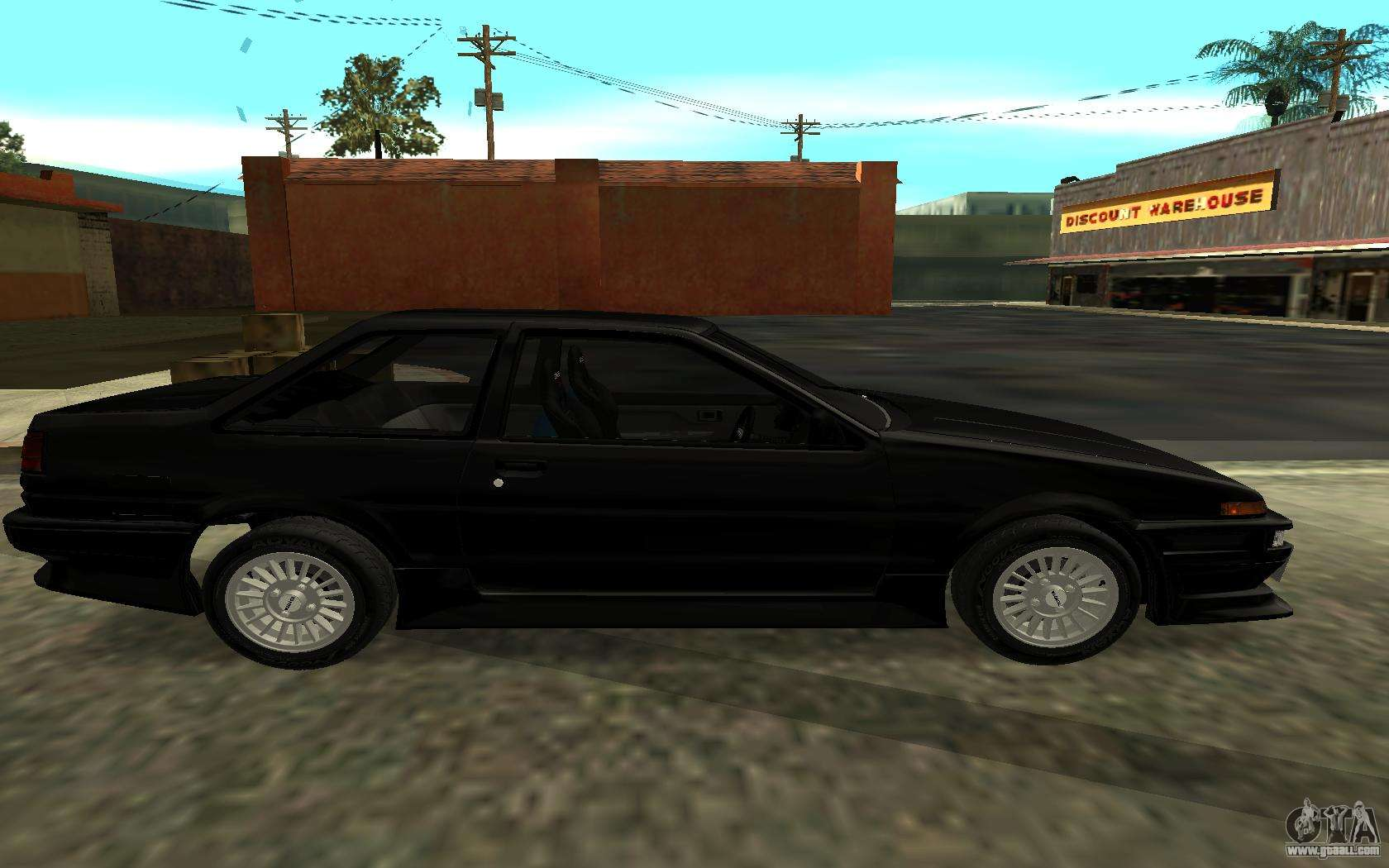 toyota corolla levin ae86 for gta san andreas. Black Bedroom Furniture Sets. Home Design Ideas