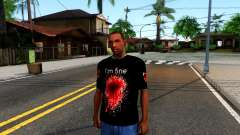 Black I am Fine T-Shirt for GTA San Andreas