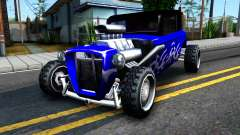 Duke Blue Hotknife Race Car
