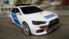 Mitsubishi Lancer Evo X Police for GTA San Andreas