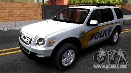 Ford Explorer Slicktop Metro Police 2010 for GTA San Andreas