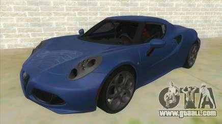 Alfa Romeo 4C for GTA San Andreas