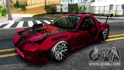 Mazda RX-7 Madbull Rocket Bunny for GTA San Andreas