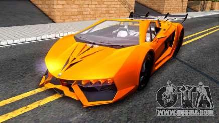 GTA V Pegassi Lampo Roadster for GTA San Andreas
