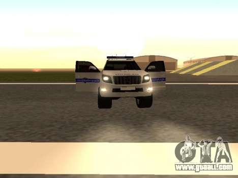Toyota Land Cruiser Polise Armenian for GTA San Andreas engine