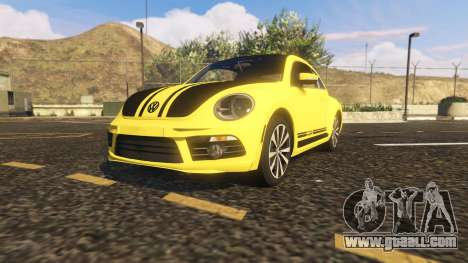 GTA 5 Limited Edition VW Beetle GSR 2012 back view