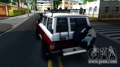 Nissan Patrol Y60 for GTA San Andreas back left view