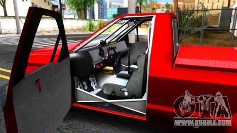 GTA V Vapid Sadler Racing for GTA San Andreas inner view