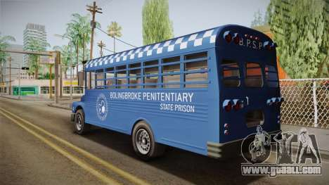 GTA 5 Vapid Police Prison Bus IVF for GTA San Andreas