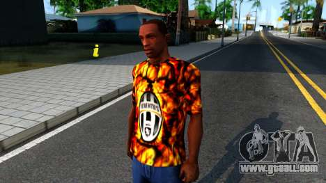 Juventus Flame T-Shirt for GTA San Andreas