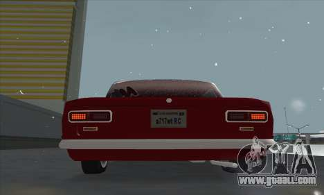 VAZ 2101 snow version for GTA San Andreas back view