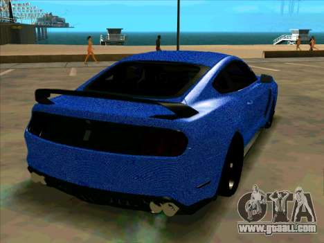 Ford Mustang BLUE STYLE for GTA San Andreas right view