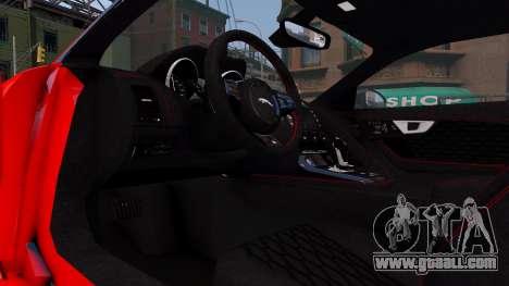Jaguar F-Type SVR v1.0 2016 for GTA 4 inner view