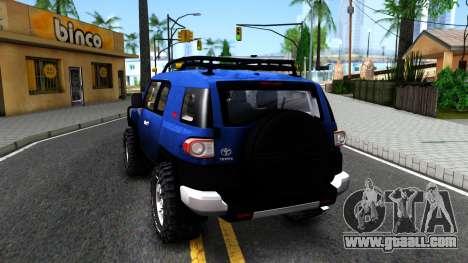 Toyota FJ Cruiser for GTA San Andreas back left view