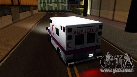 Ambulance Malaysia for GTA San Andreas back left view