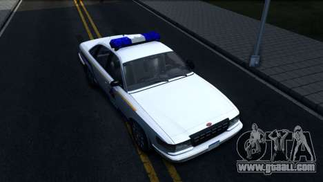 Vapid Stanier Hometown Police Department 2004 for GTA San Andreas right view