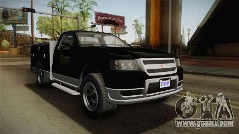 GTA 5 Vapid Utility Van for GTA San Andreas right view