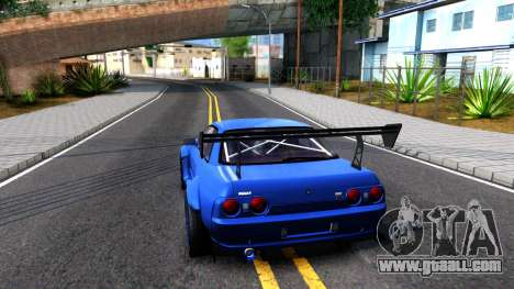 Nissan Skyline GTR R32 Rocket Bunny for GTA San Andreas back left view