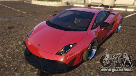 GTA 5 Lamborghini Gallardo Superleggera LibertyWalk back view