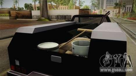 GTA 5 Vapid Utility Van for GTA San Andreas inner view