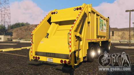 GTA 5 Portugal, Madeira Garbage Truck CMF Skin rear left side view