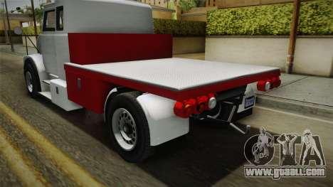 GTA 5 Brute Utility Truck IVF for GTA San Andreas inner view