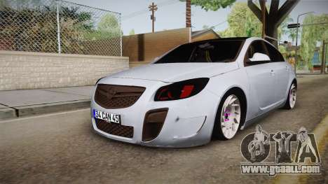 Opel Insignia for GTA San Andreas back left view