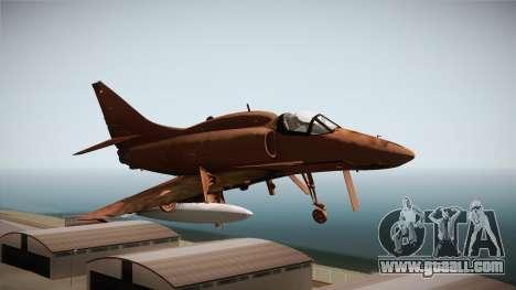 EMB McDonnell Douglas A-4M Skyhawk for GTA San Andreas back left view