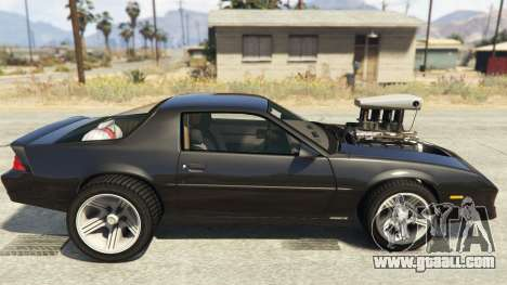 GTA 5 IROC-Z Big V8 Drag Car left side view
