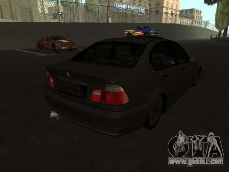 BMW 320i Armenian for GTA San Andreas back left view
