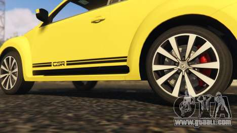 GTA 5 Limited Edition VW Beetle GSR 2012 rear right side view