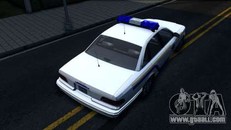 Vapid Stanier Hometown Police Department 2004 for GTA San Andreas back view