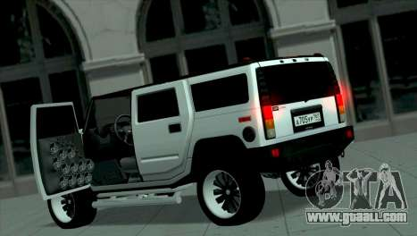 Hummer H2 Loud Sound for GTA San Andreas left view