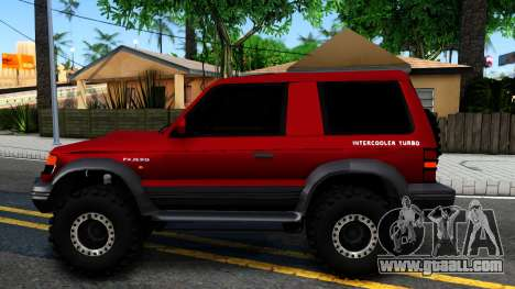 Mitsubishi Pajero Off-Road 3 Door for GTA San Andreas left view