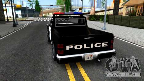 Police Bobcat for GTA San Andreas back left view