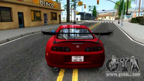 Toyota Supra Mk.IV A80 for GTA San Andreas back left view