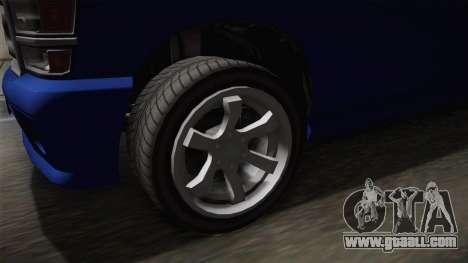 GTA 5 Bravado Bison for GTA San Andreas back view