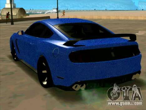 Ford Mustang BLUE STYLE for GTA San Andreas back left view