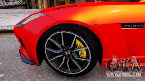 Jaguar F-Type SVR v1.0 2016 for GTA 4 back view