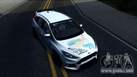 Ford Focus RS 2017 Kirisaki Chitoge Itasha for GTA San Andreas