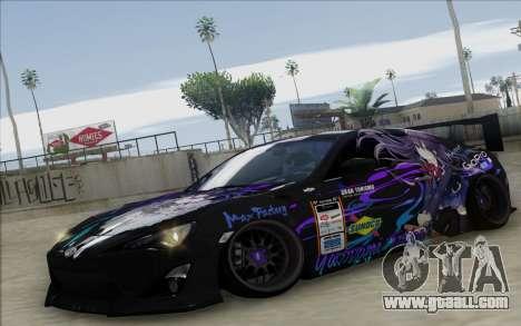 Toyota GT86 Yatogami Tohka Itasha for GTA San Andreas