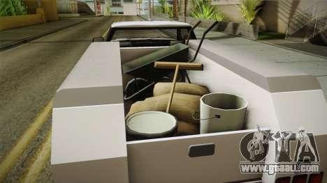 GTA 5 Vapid Utility Van IVF for GTA San Andreas inner view