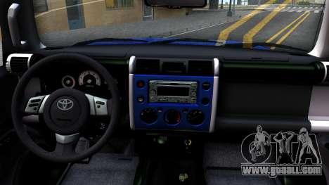 Toyota FJ Cruiser for GTA San Andreas inner view