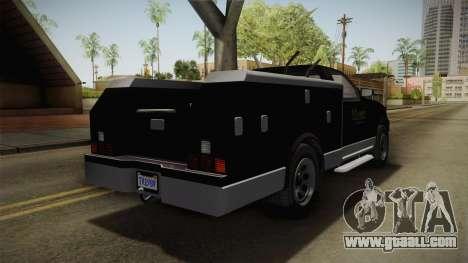 GTA 5 Vapid Utility Van for GTA San Andreas back left view