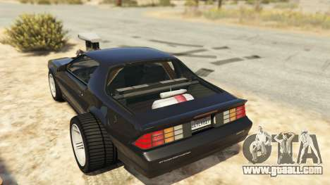 GTA 5 IROC-Z Big V8 Drag Car rear left side view