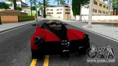 Pagani Huayra for GTA San Andreas back left view